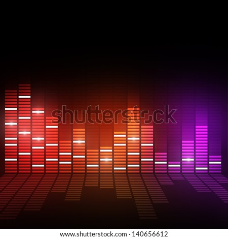 mutlicolor music equalizer background for active events - stock photo