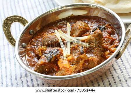 mutton curry , indian food - stock photo