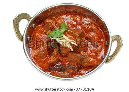 mutton rogan josh, mutton curry, indian cuisine - stock photo