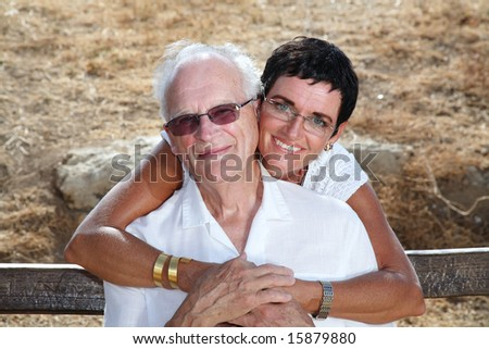 my dad and I - stock photo