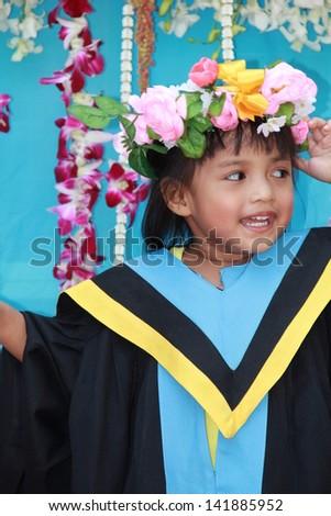 My daughter's graduation. - stock photo
