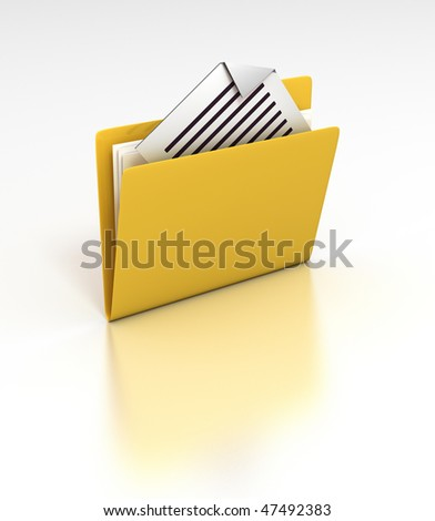 My Documents - rendered 3D icon - stock photo