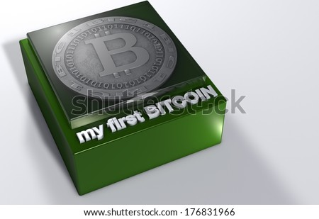 My first bit coin stand - stock photo