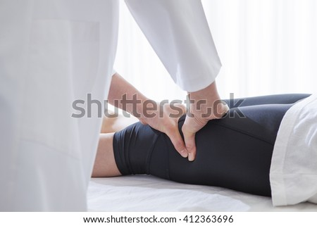 My hands will soothe your tired. - stock photo