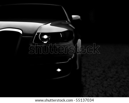 My own car design - stock photo