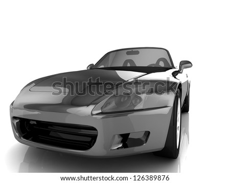 My own Car design background. 3D render. - stock photo