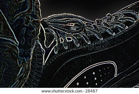 my tennis shoe - stock photo