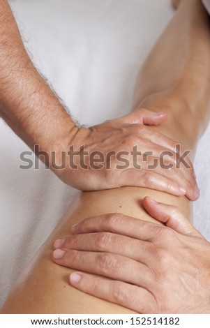 Myofacial therapy - stock photo