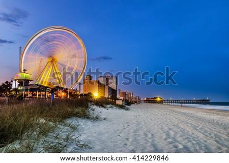 Myrtle Beach, South Carolina, USA city skyline - stock photo