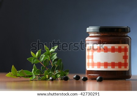 myrtle jam in a labelled not branded can - stock photo