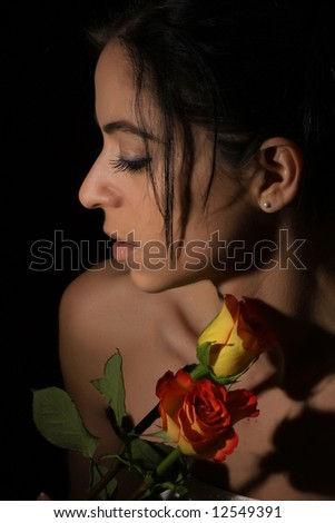 mysterious bride - stock photo