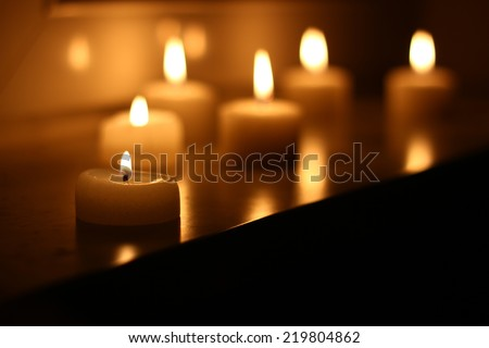 mysterious candles - stock photo