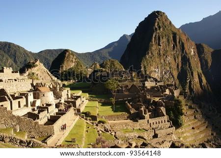 Mysterious city - Machu Picchu, Peru - stock photo
