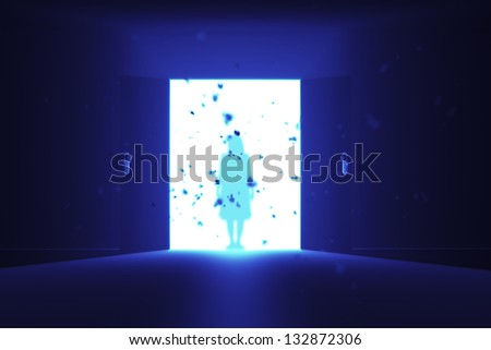 Mysterious Door Yurei Ghost