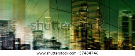 Mysterious Evening/Night City - stock photo