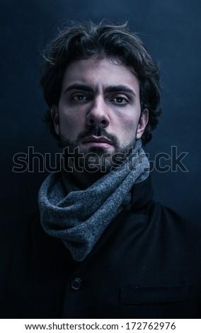 mysterious portrait - stock photo