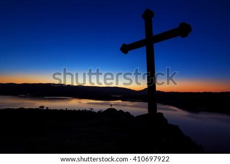 Mystery Of The Crucifix - Symbol Of Faith - stock photo