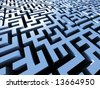 mystical labyrinth - stock photo