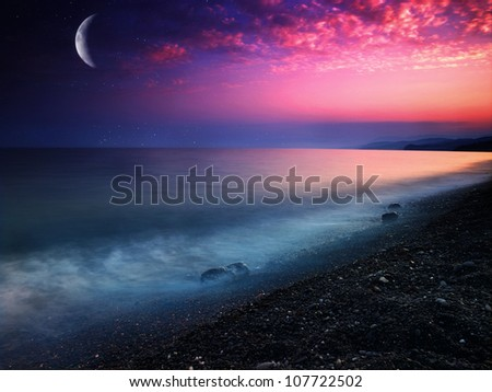 Mystical sea. Abstract natural backgrounds - stock photo