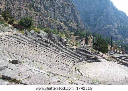 mystras greece peloponnes - stock photo