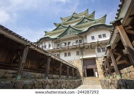 Nagoya Castle entrance gate - stock photo
