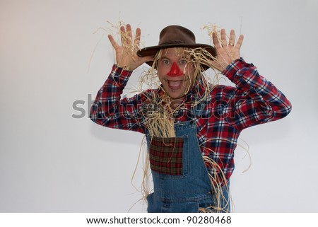 Nah nah nah nah nah scarecrow - stock photo