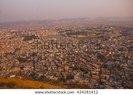 Nahagarh Fort overlooking the pink city of Jaipur in the Indian state of Rajasthan