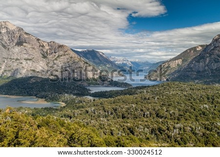 Nahuel Huapi lake, Argentina - stock photo