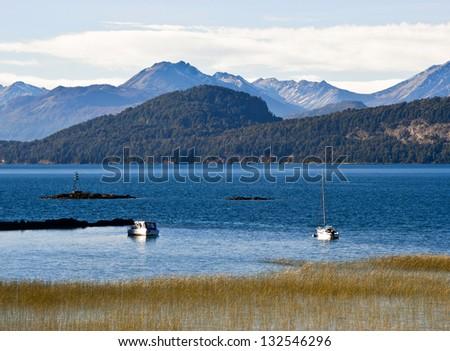 Nahuel Huapi lake, Patagonia Argentina, near Bariloche - stock photo