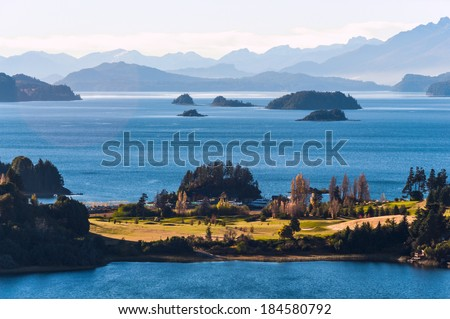 Nahuel Huapi lake, Patagonia Argentina, near Bariloche - stock photo
