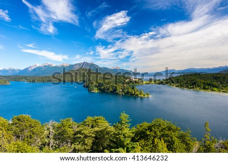 Nahuel Huapi lake, San Carlos de Bariloche (Argentina) - stock photo