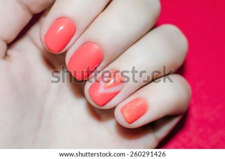 Nail art - stock photo