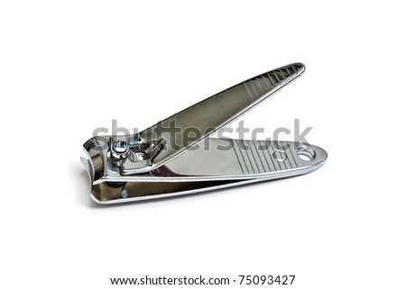 Nail clippers isolated on white background - stock photo