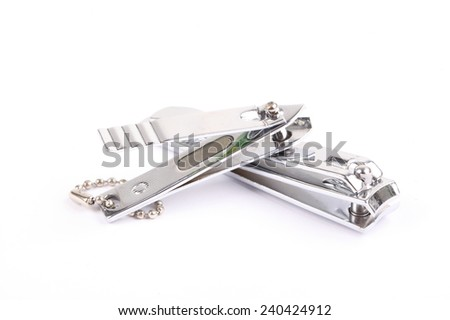nail clippers with white background