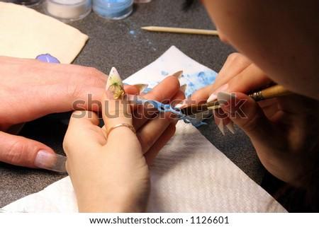 nail design - stock photo