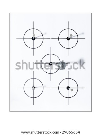 nail in the target - stock photo