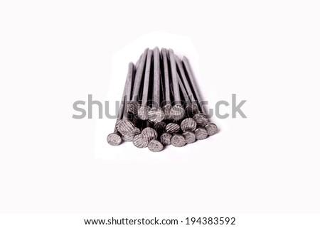 nail on white background - stock photo