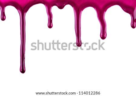 Nail polish blots isolated on white background - stock photo