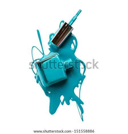 Nail polish isolated on white background - stock photo