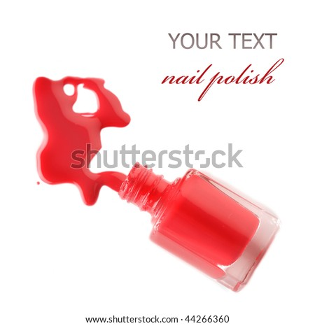 Nail Polish Splash - stock photo