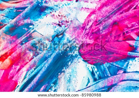 Nail Polish Splashes. art set - stock photo