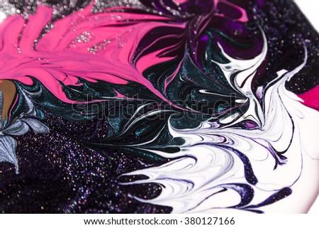 Nail Polish Splashes as a background. Macro - stock photo