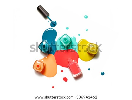 Nail Polish splatter on what background - stock photo