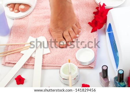 Nail Spa manicure and pedicure with equipment
