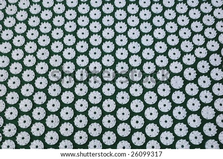 nailcarpet good for your back and helth - stock photo