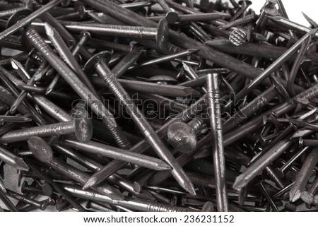Nails close up - stock photo