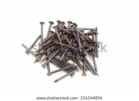 Nails on white background - stock photo