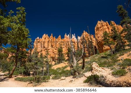 Najavo Loop. Bryce Canyon. Utah. USA. - stock photo