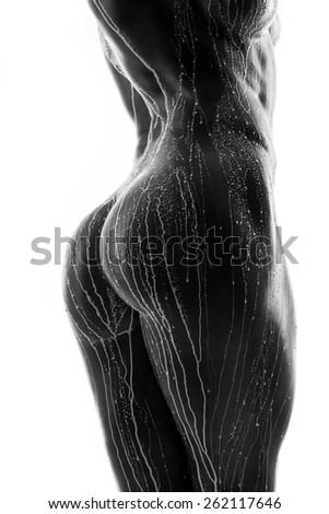 naked girl in milk