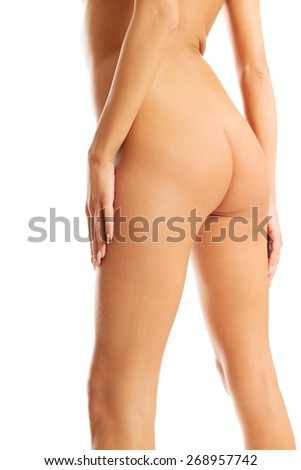 Naked slim spa woman's buttocks - stock photo